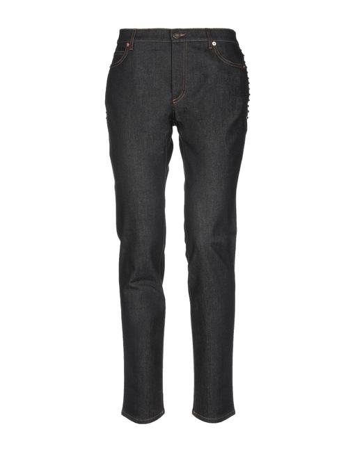 Item - Dark Blue Rinse Studded Straight Leg Jeans Size 28 (4, S)