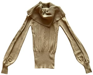 Guess Beige Camel Cowl Neck Sweater