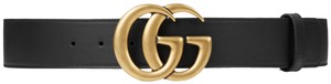 Gucci Gucci GG Leather Belt Size *85* with Double G Buckle