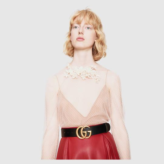 Gucci Gucci GG Leather Belt Size *85* with Double G Buckle Image 1