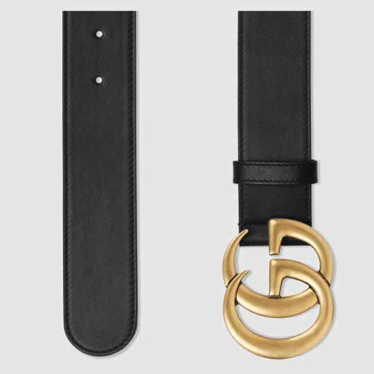 Gucci Gucci GG Leather Belt Size *85* with Double G Buckle Image 2