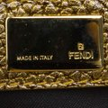 Fendi Pebbled Leather Satchel in Gold Image 5
