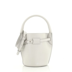 Céline Bucket Leather Tote in gray