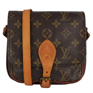 Louis Vuitton Monogram Canvas Leather Vintage Cross Body Bag