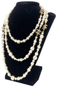Chanel Chanel CC Graduated Pearl Extra Long XL Necklace