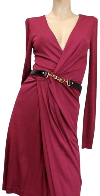 Item - Cherry New Deep Neck Mid-length Night Out Dress Size 8 (M)
