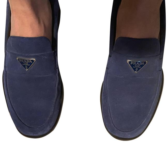 Item - Blue Suede Loafer Sneakers Size US 5.5 Regular (M, B)