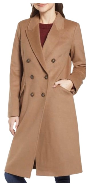 Item - Brown Nwt. Long Topcoat In Wool-cashmere Coat Size 10 (M)