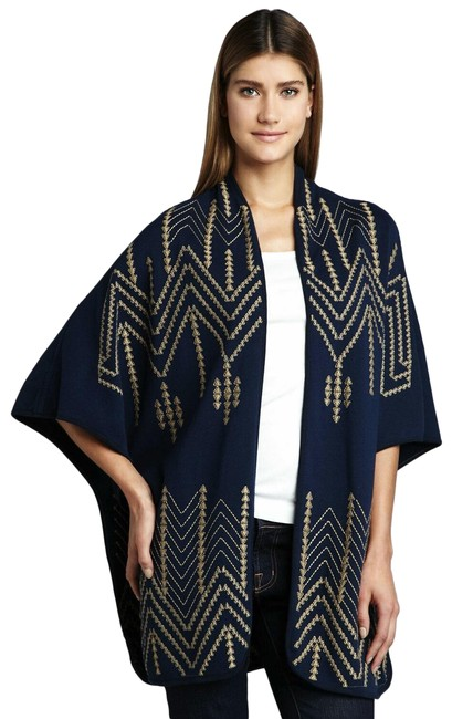 Item - Black/Gold Cheyenne Embroidered Poncho/Cape Size 4 (S)