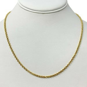 Other 14k Yellow Gold Solid 9.2g Diamond Cut 2.5mm Rope Chain Necklace 18