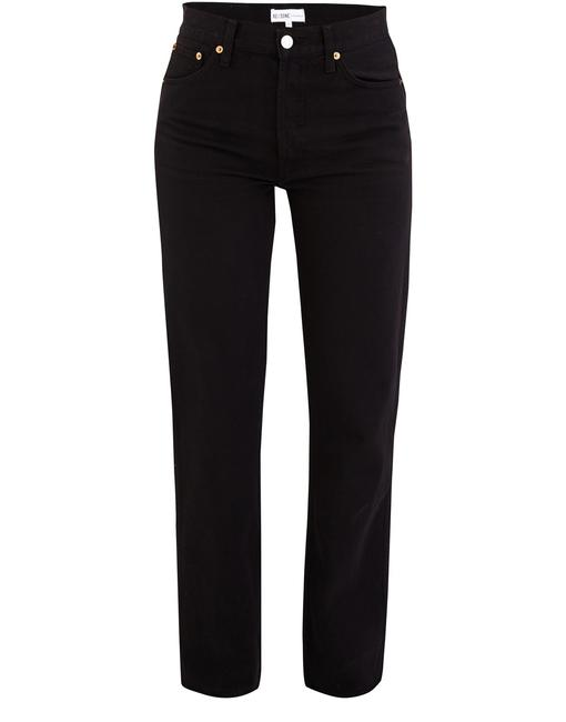 RE/DONE High Rise Soft Straight Leg Relaxed Fit Jeans Image 3