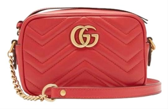 Preload https://img-static.tradesy.com/item/26444161/gucci-marmont-gg-small-red-leather-cross-body-bag-0-1-540-540.jpg