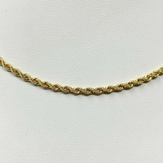 Other 14k Yellow Gold Solid 7.6g Diamond Cut 2.5mm Rope Chain Necklace 16