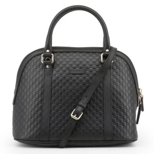 Gucci Dome Crossbody Gg Guccissima Satchel in black