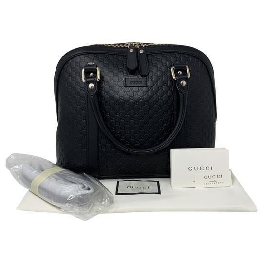 Gucci Dome Crossbody Gg Guccissima Satchel in black Image 10