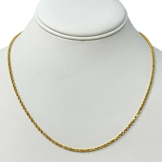Preload https://img-static.tradesy.com/item/26444189/10k-yellow-gold-solid-69g-diamond-cut-2mm-rope-chain-18-necklace-0-1-540-540.jpg