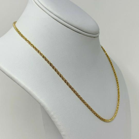 Other 10k Yellow Gold Solid 6.9g Diamond Cut 2mm Rope Chain Necklace 18