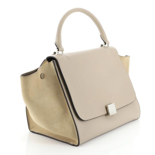 Céline Leather Trapeze Tote in neutral Image 1