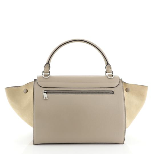 Céline Leather Trapeze Tote in neutral Image 2