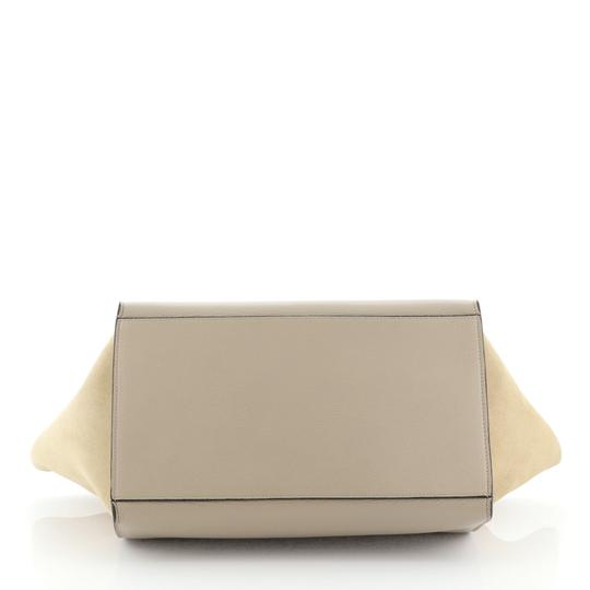 Céline Leather Trapeze Tote in neutral Image 3