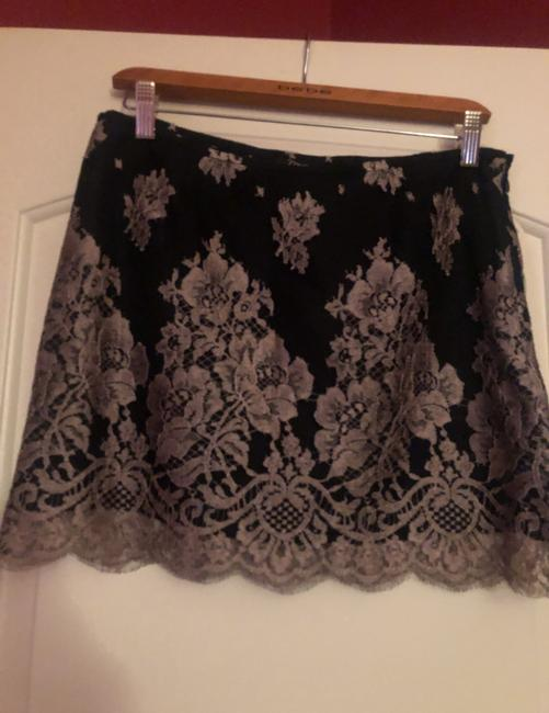 MILLY Mini Skirt black/lilac silver Image 1