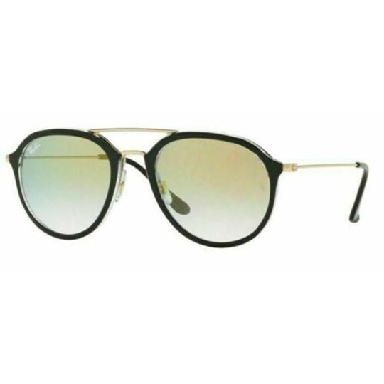 Preload https://img-static.tradesy.com/item/26444283/ray-ban-black-gold-tone-frame-and-clear-gradient-lens-rb4253-6052y0-50-unisex-pilot-sunglasses-0-0-540-540.jpg