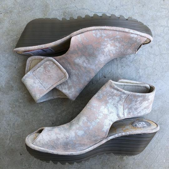 FLY London Pink Wedges Image 2