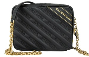 Balenciaga Leather Embossed Cross Body Bag