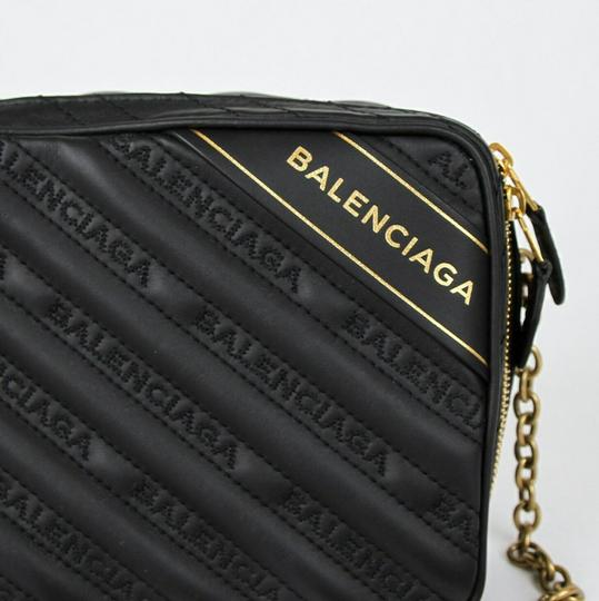 Balenciaga Leather Embossed Cross Body Bag Image 4