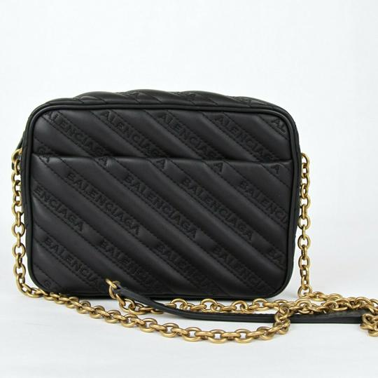 Balenciaga Leather Embossed Cross Body Bag Image 5