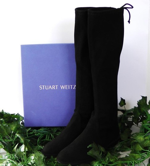 Stuart Weitzman Date Night Night Out Hollywood Party Holiday Black Boots Image 1