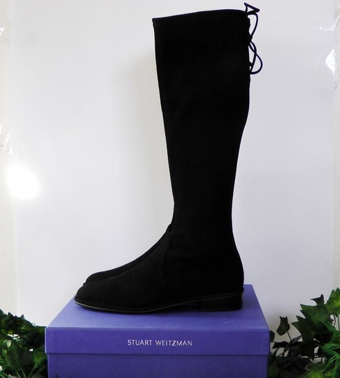 Stuart Weitzman Date Night Night Out Hollywood Party Holiday Black Boots Image 5