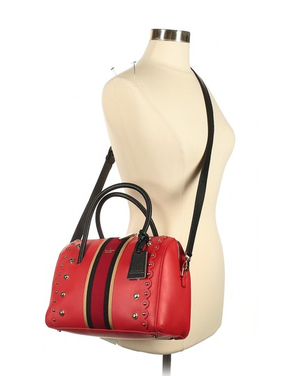 Kate Spade Leather Studded Madison Scalloped Satchel in Red Image 3