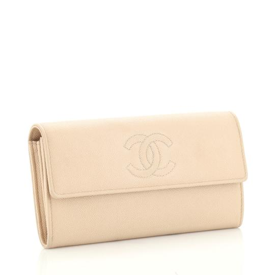 Chanel Wallet Leather neutral Clutch Image 1