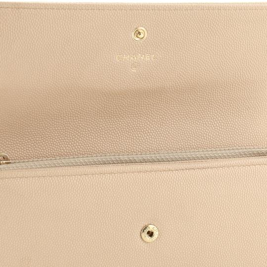 Chanel Wallet Leather neutral Clutch Image 6