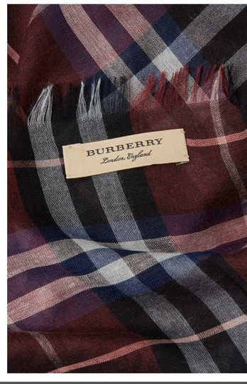 Burberry Burberry Wool Plaid Scarf Image 1
