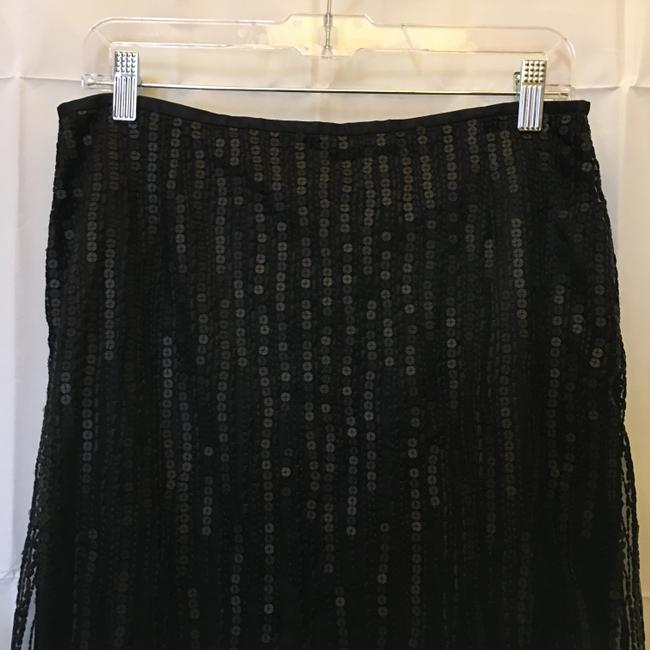 Escada Formal Embellished Sequin Beaded Size S Small Skirt Black Image 1