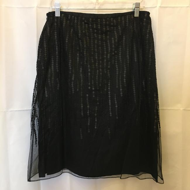 Escada Formal Embellished Sequin Beaded Size S Small Skirt Black Image 4