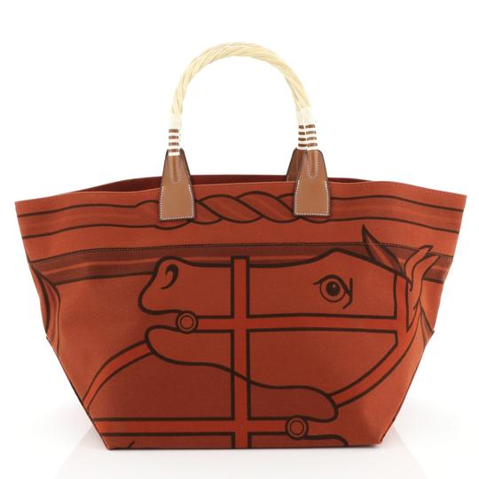 Hermès Leather Tote in brique Image 1
