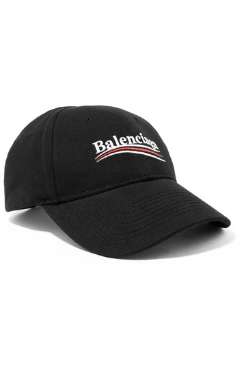 Preload https://img-static.tradesy.com/item/26444399/balenciaga-embroidered-cotton-twill-baseball-cap-hat-0-0-540-540.jpg