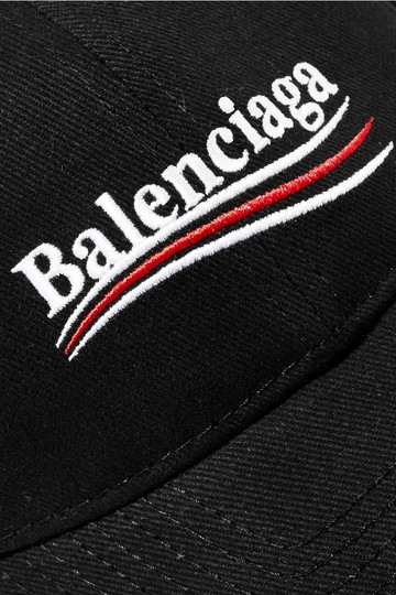 Balenciaga Embroidered cotton-twill baseball cap Image 2