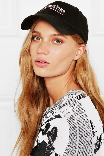 Balenciaga Embroidered cotton-twill baseball cap Image 3