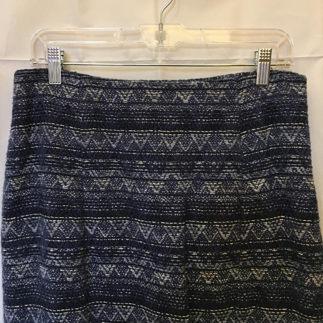 MICHAEL Michael Kors And White Cotton White Tassel Fringe Size 6 S Small New With Tags Mini Skirt Blue Image 1