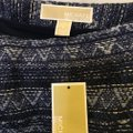 MICHAEL Michael Kors And White Cotton White Tassel Fringe Size 6 S Small New With Tags Mini Skirt Blue Image 2