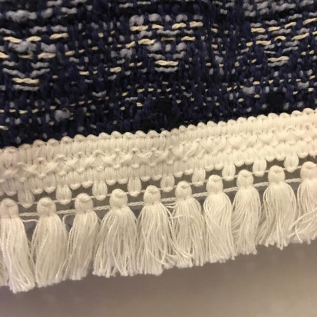 MICHAEL Michael Kors And White Cotton White Tassel Fringe Size 6 S Small New With Tags Mini Skirt Blue Image 6