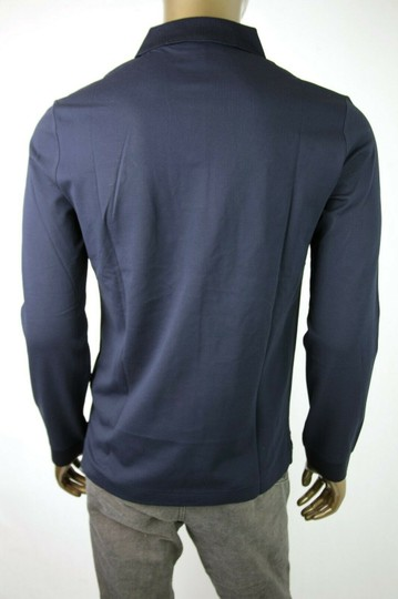 Burberry Navy XL Cotton Long Sleeve Polo with Gold Horse Charm 4059323 Shirt Image 3