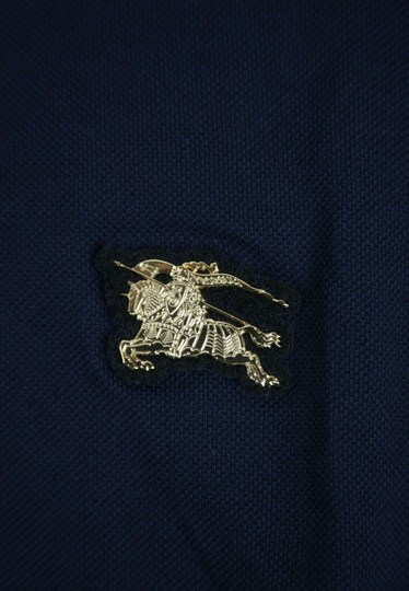 Burberry Navy XL Cotton Long Sleeve Polo with Gold Horse Charm 4059323 Shirt Image 6