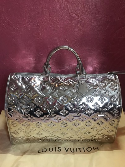 Louis Vuitton Satchel in Silver Monogram Mirior Miroir Mirror Rare Image 1