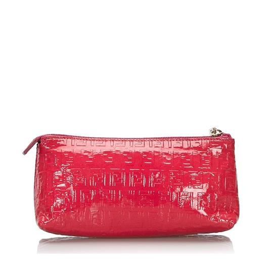 Fendi 9kfnpo001 Vintage Patent Leather Wristlet in Pink Image 1