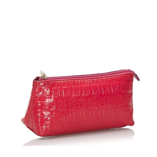 Fendi 9kfnpo001 Vintage Patent Leather Wristlet in Pink Image 10